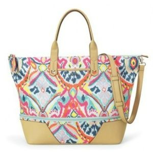 Stella and Dot Weekender Bag in Ikat print